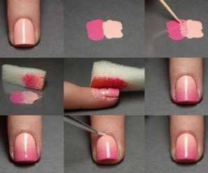 Sponge Nail Art Technique