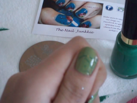 If you wait too long, the polish on the stamper will dry out and won't stamp correctly