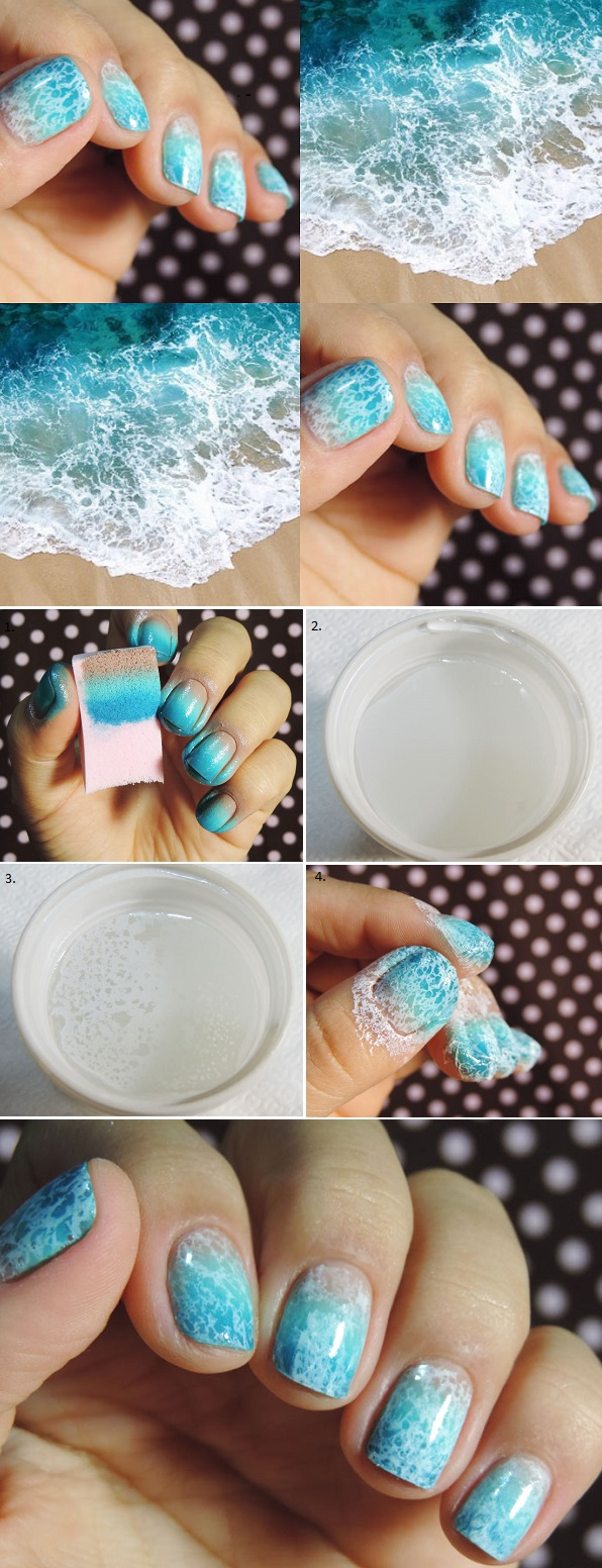 How to make Nail Art - Beach Waves shape