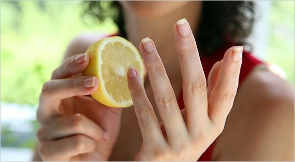 Nail Whitening With Lemon Juice